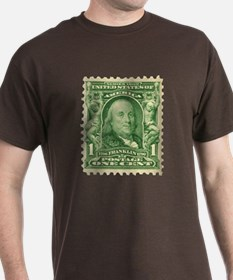 Ben Franklin 1-cent Stamp T-Shirt