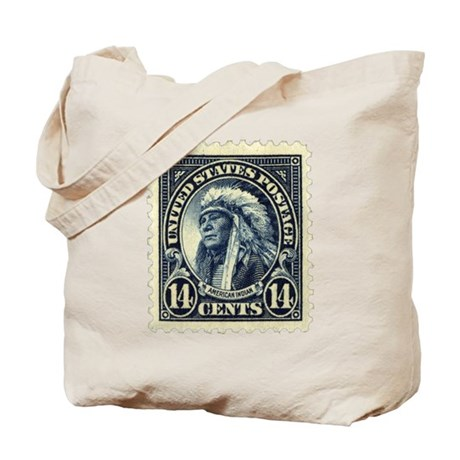 American Indian 14-cent Stamp Tote Bag