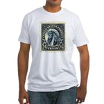 American Indian 14-cent Stamp Fitted T-Shirt