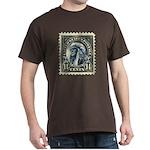American Indian 14-cent Stamp Dark T-Shirt