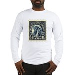 American Indian 14-cent Stamp Long Sleeve T-Shirt