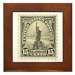 Liberty 15-cent Stamp Framed Tile