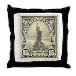 Liberty 15-cent Stamp Throw Pillow