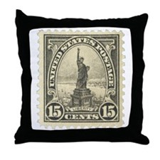 Liberty 15-cent Stamp Throw Pillow