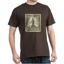 Liberty 15-cent Stamp Dark T-Shirt