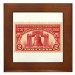 Sesquicentennial 2-cent Stamp Framed Tile