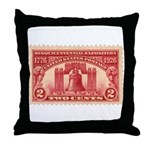 Sesquicentennial 2-cent Stamp Throw Pillow