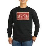 Sesquicentennial 2-cent Stamp Long Sleeve Dark Tee