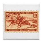 Pony Express 3-cent Stamp Tile Coaster