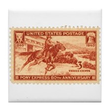 Pony Express 3-cent Stamp Tile Coaster
