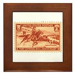 Pony Express 3-cent Stamp Framed Tile