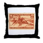 Pony Express 3-cent Stamp Throw Pillow
