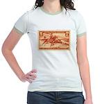 Pony Express 3-cent Stamp Jr. Ringer T-Shirt