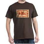 Pony Express 3-cent Stamp Dark T-Shirt