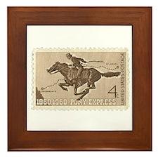 Pony Express 4-cent Stamp Framed Tile
