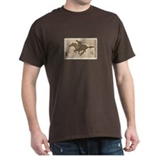 Pony Express 4-cent Stamp Dark T-Shirt