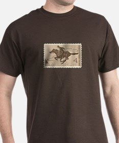 Pony Express 4-cent Stamp T-Shirt