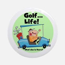 Golf is Life Ornament (Round)