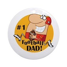 Football Dad Ornament (Round)