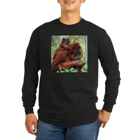 Orangutan's Long Sleeve Dark T-Shirt