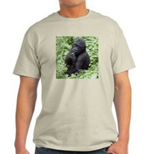 Relaxing Young Gorilla Light T-Shirt
