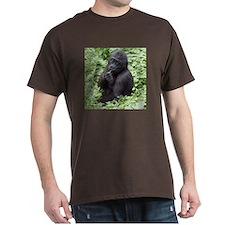 Relaxing Young Gorilla Dark T-Shirt