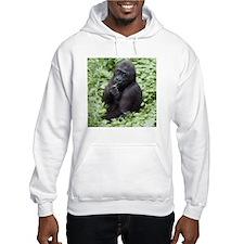 Relaxing Young Gorilla Hooded Sweatshirt