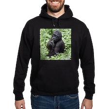 Relaxing Young Gorilla Hoodie (dark)
