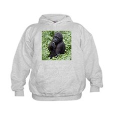 Relaxing Young Gorilla Kids Hoodie