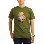 Little Girl Toy Horse Organic Men's T-Shirt (dark)