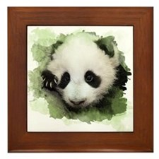 Baby Giant Panda Framed Tile