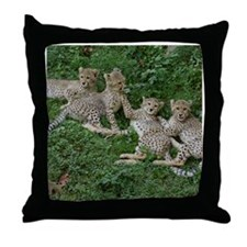 Young Cheetahs Throw Pillow