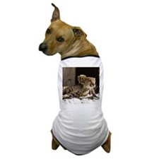 Mom and Baby Cheetah Dog T-Shirt