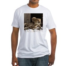 Mom and Baby Cheetah Fitted T-Shirt