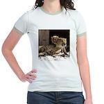 Mom and Baby Cheetah Jr. Ringer T-Shirt