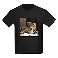 Mom and Baby Cheetah Kids Dark T-Shirt