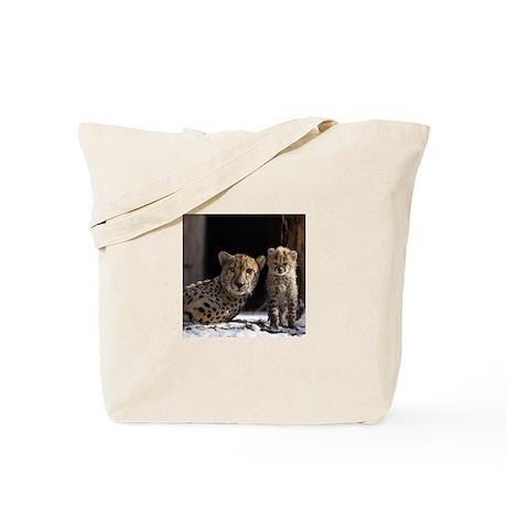 Mom and Baby Cheetah Tote Bag