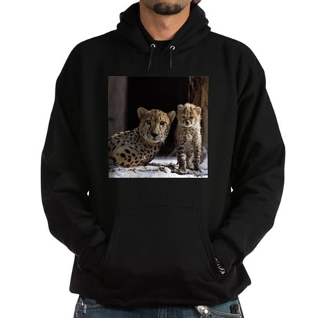 Mom and Baby Cheetah Hoodie (dark)