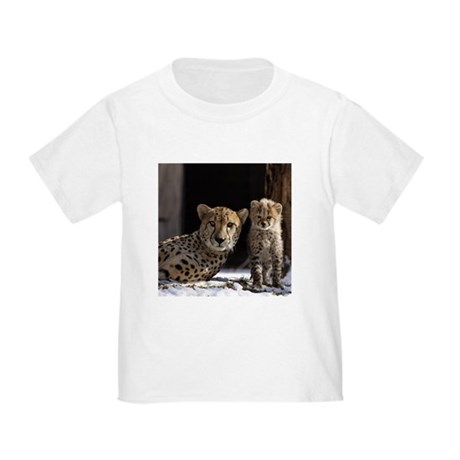 Mom and Baby Cheetah Toddler T-Shirt