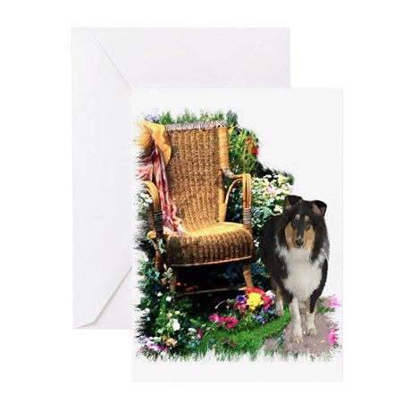 Tri-Color Collie Greeting Cards (Pk of 10)