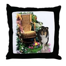 Tri-Color Collie Throw Pillow