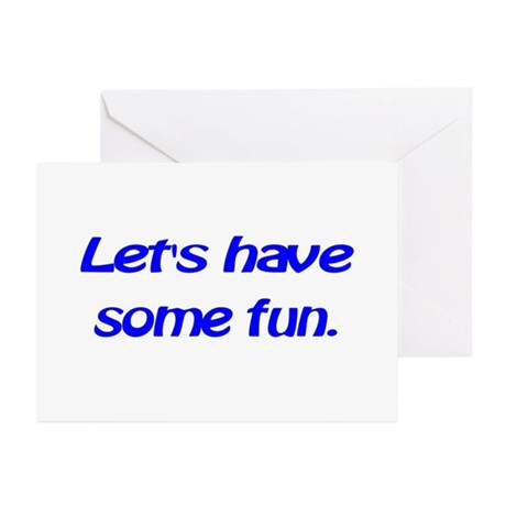 Let's have some fun. Greeting Cards (Pk of 10)