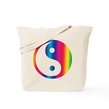 Rainbow Yin Yang Tote Bag