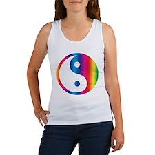 Rainbow Yin Yang Women's Tank Top