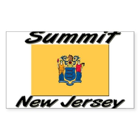 Summit New Jersey Rectangle Sticker