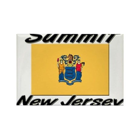 Summit New Jersey Rectangle Magnet