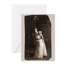 Victorian Mistletoe Greeting Cards (Pk of 10)