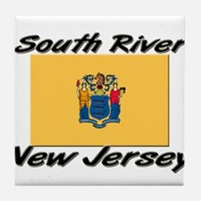 South River New Jersey Tile Coaster