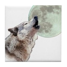 Wolf Howling Tile Coaster