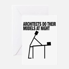 Architects Do Models Greeting Cards